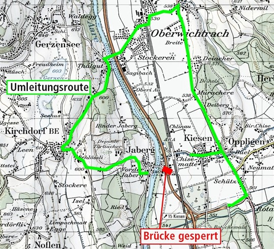 T28 Umleitungsroute